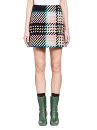 tweed skirt skirt in bonded macro tweed check from the marni summer
