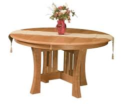 arts and crafts table for amish round dining table arts crafts mission base solid wood leaf 54