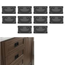 kitchen cupboard doors and drawers 10 pack matte flat black cabinet hardware kitchen bath cupboard door drawer pull square mission style 3 center