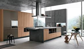 kitchen kitchen set on the frame made of wood veneer with island