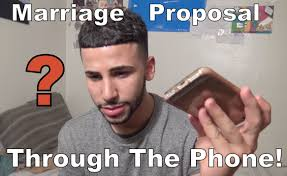 Meme Wedding Proposal - i got a marriage proposal through the phone youtube