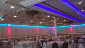 Hall Ceiling Lights by Led Lighting Design Van Nuys Ca Grand Banquet Hall Youtube