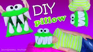 Head Cushion Socks Diy Monster Pillow U2013 How To Make A Head Eating Pillow Youtube
