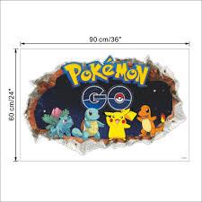 cheap broken wall cartoon game pokemon go wall stickers home