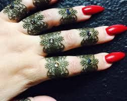 henna tattoo rings set of 9