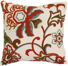 dahlia red decorative throw pillow 18