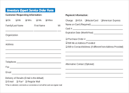 sample service order template 6 free word excel pdf documents