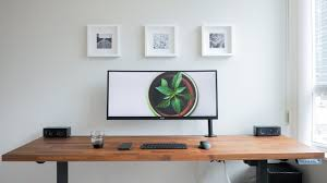 Diy Wood Desk Diy Desk Setup Clean Modern Wood Design