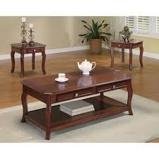 3 Piece Living Room Table Sets Riverside Metro Ii Rectangular Storage 3 Piece Coffee Table Set