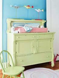 Dresser Into Changing Table Diy Repurposed Refinished Chest Of Drawers Dresser Into A Nursery