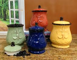 pottery kitchen canister sets mexican colorful pottery kitchen canister sets ebay millena