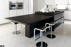 table escamotable dans meuble de cuisine meuble cuisine table galerie et meuble de cuisine avec table
