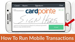cardpointe mobile how to run a transaction on cardpointe mobile