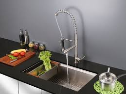 Kitchen Faucet With Spray Ruvati Alori Single Handle Kitchen Faucet With Pre Rinse Spray