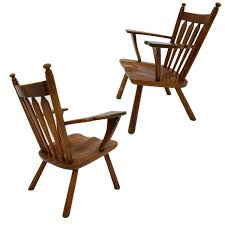 Maple Chairs Cushman Maple Paddle Arm Lounge Chair At 1stdibs