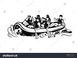 rafting logo rafting boat people oars stock vector 647203057