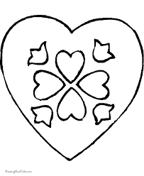 printable valentine hearts coloring pages 041