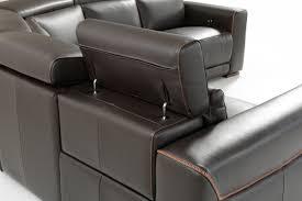 Modern Brown Leather Sofa by Estro Salotti Thelma Modern Brown Italian Leather Sectional Sofa