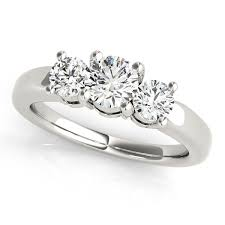 engagement rings dallas simple 14kt cut three ring and gold