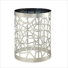 bedroom glass round nightstand with storage base for home