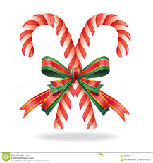 christmas decoration candy cane and ribbon stock vector image