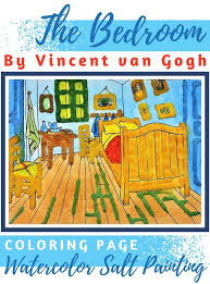 vincent van gogh bedroom the bedroom by vincent van gogh watercolor salt painting for kids