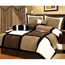 Best 10 Blue Comforter Sets by Chezmoi Collection 7 Pieces Black Brown And White Suede Within