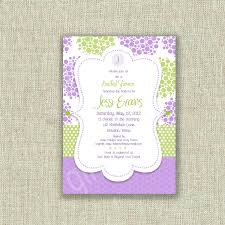 lilac bridal shower invitation invite baby shower by girlsatplay