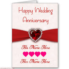 Buy Wedding Greeting Cards Online Write His And Her Name On Anniversary Wish Card Print Boy And
