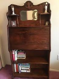 secretary desk with bookcase vintage victorian oak slant drop front secretary desk bookcase w