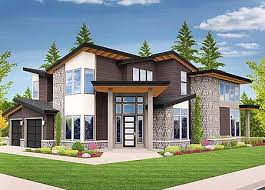 corner house plans plan 85123ms angled entry 5 bed modern house plan modern house