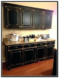 Primitive Kitchen Cabinets Black Distressed Cabinets Fin Soundlab Club