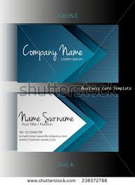 back business card front back business card template stock vector 244277326