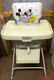 Evenflo Fold High Chair by Vintage 1984 High Chair Graco Disney Babies Mickey Minnie Mouse