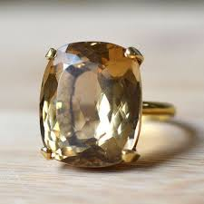 gold topaz rings images Estate yellow gold golden topaz ring this topaz is cushion cut jpg