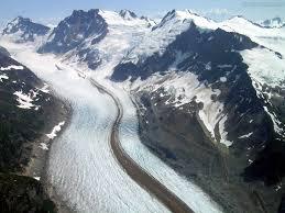 weathering erosion deposition glaciers