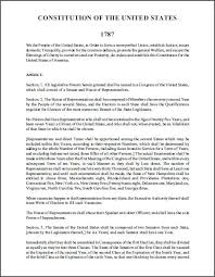 united states constitution complete text student handouts
