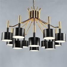 Industrial Look Living Room by Nordic Postmodern Simple Fashion Iron Duplex Building Lighting