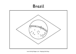 Brazil Flag Colouring Page Flag Color Page