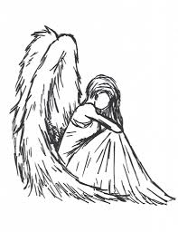 coloring page engaging drawing of an angel how to draw in