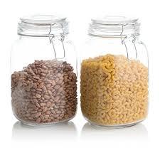 glass kitchen storage canisters amazon com klikel square glass kitchen storage canister jars