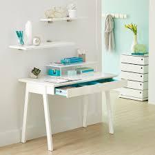 white desk white cache desk the container store white cache desk