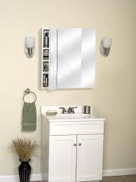 white bathroom cabinet with mirror amazon com zenith m24 beveled tri view medicine cabinet