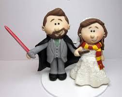 harry potter wedding cake topper etsy