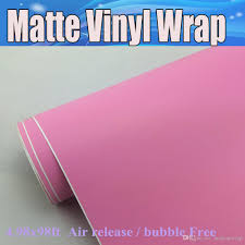 matte pink car pink matte vinyl wrap air release for car wrapping stickers matt