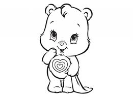 easy care bear coloring pages preschoolers 9iz28