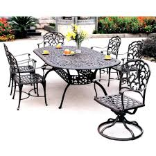 Darlee Patio by Darlee Catalina 7 Piece Cast Aluminum Patio Dining Set With Oval
