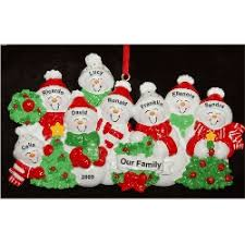 8 our tree family ornaments personalized