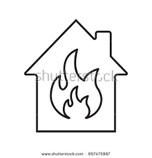 coloring pages of flames burning house stock images royalty free images u0026 vectors