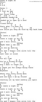 leave a light on garth brooks leave a light on by garth brooks lyrics and chords